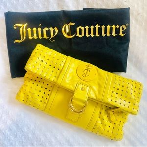 JUICY COUTURE - leather yellow clutch purse